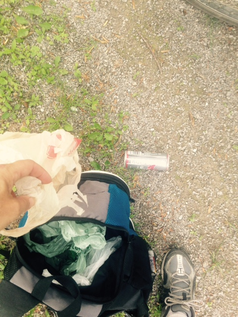 trash on the Tc Trail, not much here though! yay!
