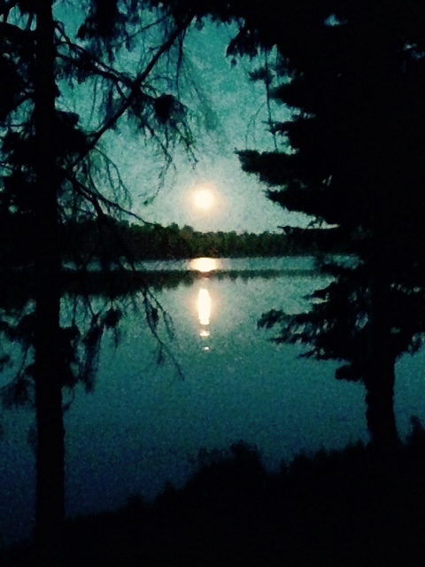 Moonrise over Gurd Lake