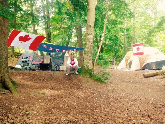 Site 118 set up and ready to celebrate Canada Day with pride!