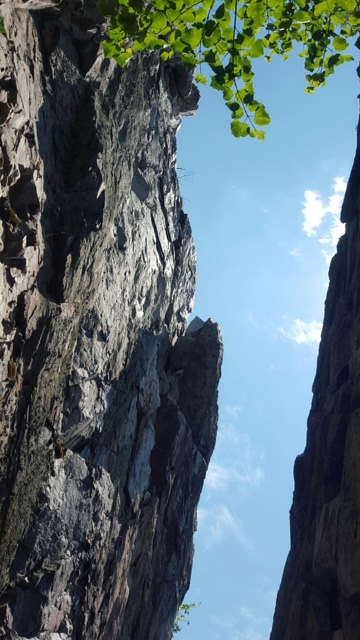 looking up from the crack, photo credit Stephanie Mercier