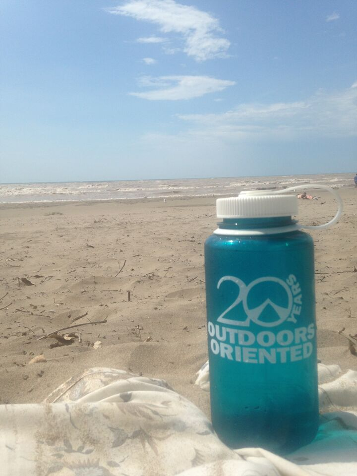 26 water bottle beach