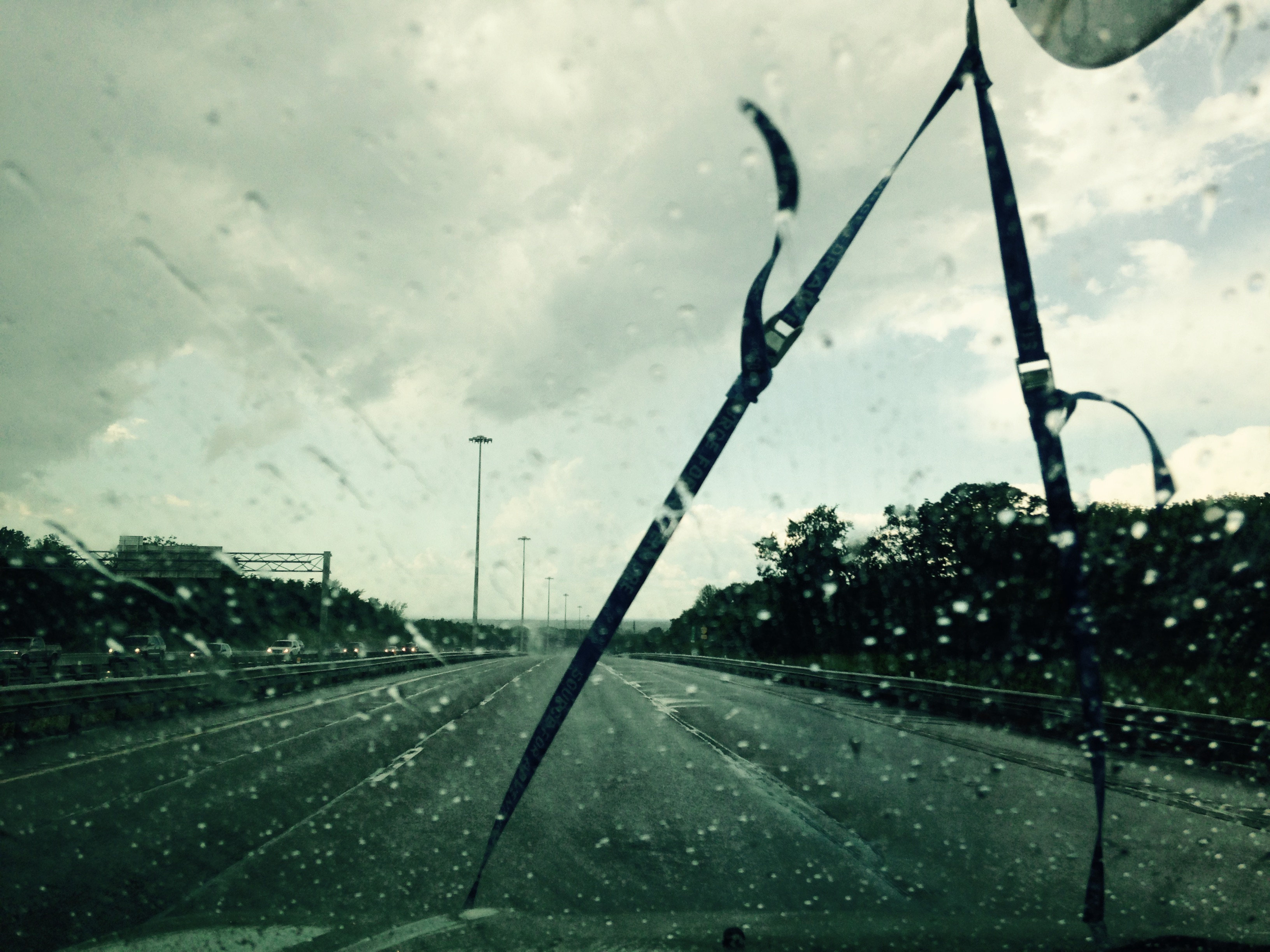 Torrential downpours on the QEW en route back to the store