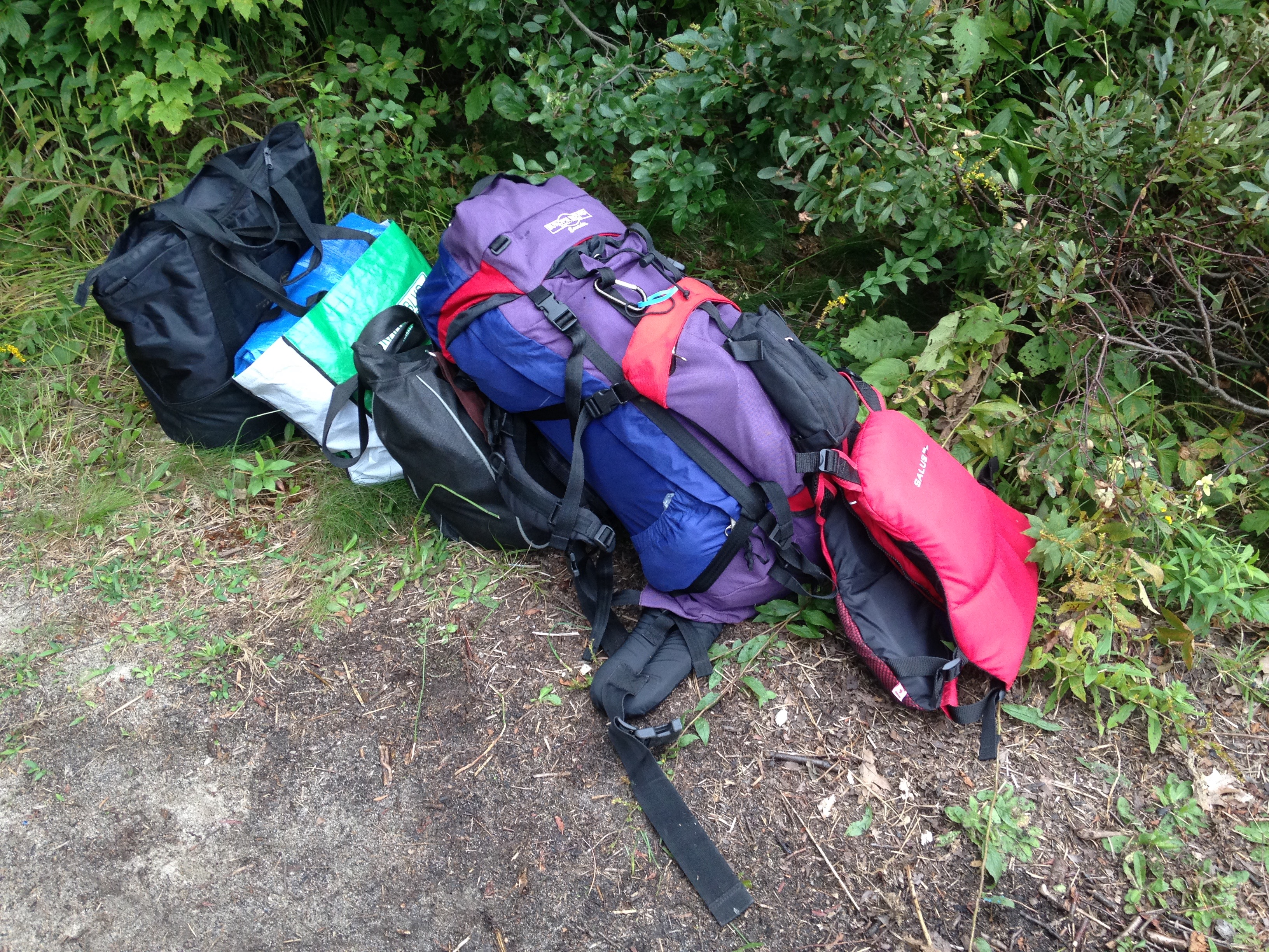 This is everything I carried in one trip. Then returned to get my boat and one cinch bag that remained.