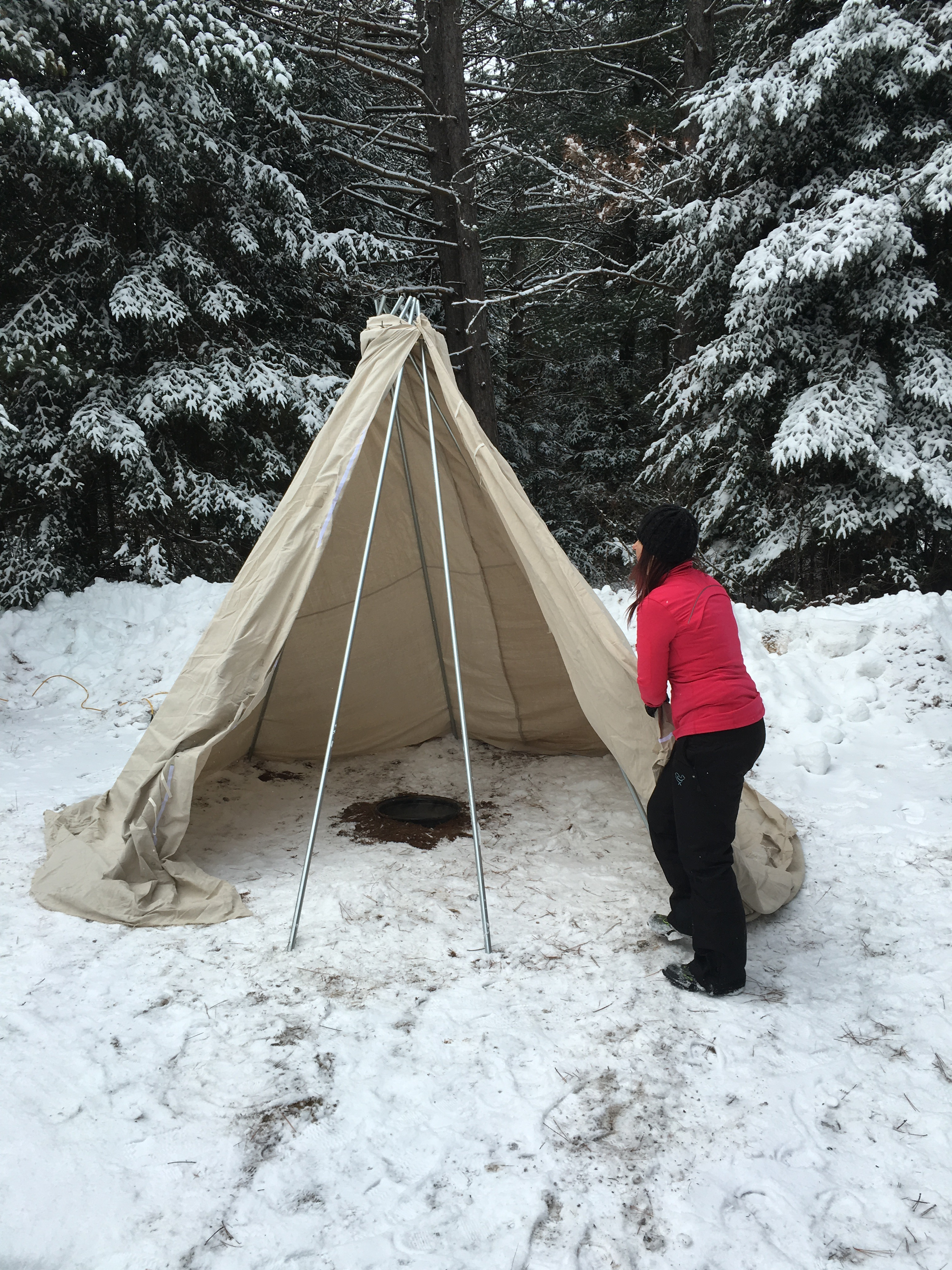 How to build a Tipi! CamperChristina style